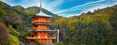 Our Kumano Kodo Trail itinerary takes in the complete path to the Grand Shrine of Hongu and then oto the mountain-top temple complex of Mount Koya. Trekking Holidays, Walking Holiday, Adventure Holiday, Valley View, Visit Japan, All Holidays, Pilgrimage, Hot Springs, Trail
