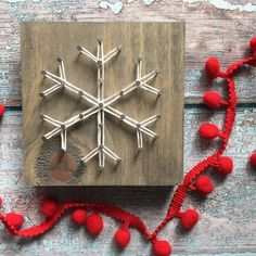 Image result for string art snowflake
