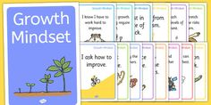 Growth Mindset Statement Posters - A set of 'growth mindset talk' display posters to help pupils remember the key elements of growth mindset.