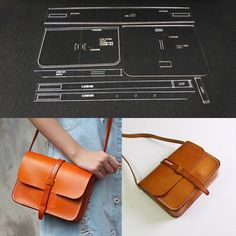 Acrylic Template Pattern for Messager Leather Craft Pattern Shoulder Bag