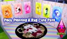 Download pack here : http://idol-sims.blogspot.com/2016/09/pack-painting-rug-cute-pets.html