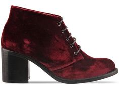 To Be Announced 11FIFTYNINE in Burgundy Velvet at Solestruck.com