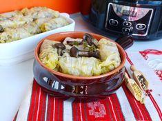 Sarmale cu ciuperci si bulgur-de post, la slow cooker Crock-Pot Catering, Crockpot, Slow Cooker, Cabbage, Tacos, Vegetables, Ethnic Recipes, Food, Bulgur