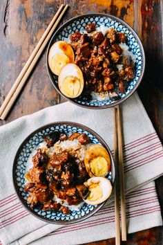 For the pork belly that is currently in the freezer!! --> Lu Rou Fan (Taiwanese Braised Pork Rice Bowl), by thewoksoflife.com