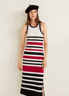 6d8230be82 Striped jersey dress - f foMidi Women