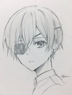 りつ🍑 on - New Tutorial and Ideas Anime Boy Sketch, Anime Drawings Sketches, Pencil Art Drawings, Cute Drawings, Girl Sketch, Boy Drawing, Manga Drawing, Manga Art, Anime Art