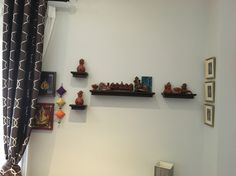 A collection of terracota and mixed media Ganeshas