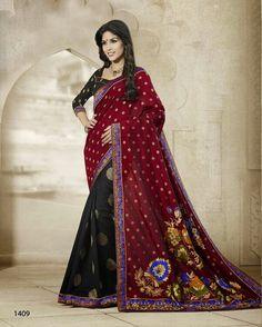 Banasari Jacquard With Zari Waving Border Zari Eid Special Indian Saree A 140-4 Clothing, Shoes & Accessories