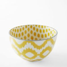 Ikat Pad Printed Bowls | west elm - in stock