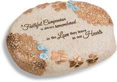 "Faithful Companion by Light Your Way Memorial - 6"" Hollow Memorial Stone"