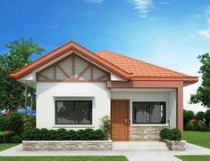 Two Bedroom House Design, House Roof Design, 2 Storey House Design, Small House Design, Bungalow Floor Plans, Modern Bungalow House, Small House Plans, Filipino House, Affordable House Plans