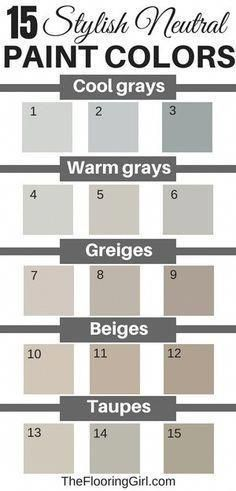15 stylish neutral paint colors that work in almost every room. paint colors neutral 15 Stylish Neutral Paint Colors That Work In Almost Every Room Taupe Paint Colors, Bedroom Paint Colors, Paint Colors For Living Room, Paint Colors For Home, Neutral Colors, Taupe Color, Neutral Kitchen Colors, Best Greige Paint Color, Neutral Gray Paint