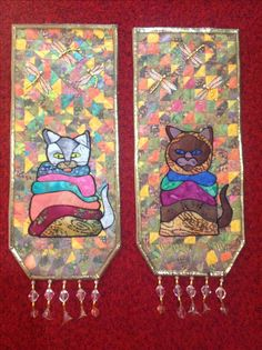 Cats in blankies