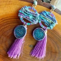 Be You Beautiful Bohemian Woven Tapestry Sugar Skull earrings image 0 Ceramic Beads, Clay Beads, Lampwork Beads, Photo Jewelry, Jewelry Art, Unique Jewelry, Sugar Skull Earrings, Tapestry Weaving, Beautiful Earrings