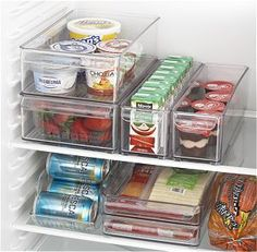 Fridge Bins and Organizer and Tray Just what I need to maximize that undersized frig I'm down sizing to.