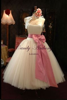 Vintage Style & Tea Length Wedding Dresses, Short Wedding Dresses, Bespoke Bridal Gowns by British Designer Candy Anthony, Online Boutique 50s Style Wedding Dress, Chic Wedding Dresses, Tea Length Wedding Dress, Wedding Gowns, 50s Wedding, Dream Wedding, Wedding Candy, Wedding Vintage, Princess Wedding