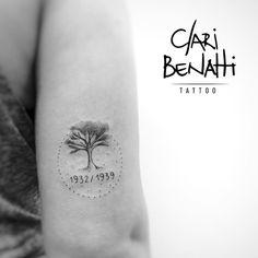 Boa tarde! Homenagem muito fofa aos avós da cliente! ❤️#claribenattitattoo #tree… Wolf Tattoos, New Tattoos, Small Tattoos, Tattoos For Guys, Tatoos, Maple Tree Tattoos, Oak Tree Tattoo, Sleeve Tattoos For Women, Tattoo Sleeve Designs