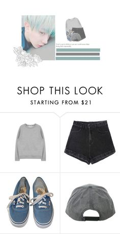 """weather [or_not]"" by ohie-tips ❤ liked on Polyvore featuring GET LOST, Vans, kpop, monstax and wonho"
