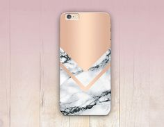 Rose Gold Marble Print Phone Case iPhone 6 Case door CRCases via Etsy
