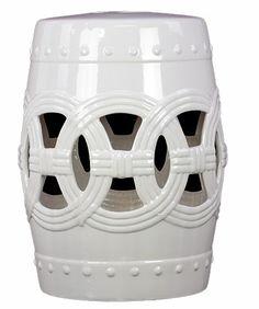 Ceramic Garden Stool White.  Free shipping!