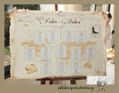"""RETRO TRAVEL"" WEDDING THEME - Seating Plan + Place Cards - TABLEAU MARIAGE TEMA ""I VIAGGI VINTAGE"" E SEGNAVOLO -"
