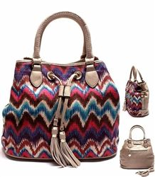 LIGHT GRAY MISSONI STYLE BAG
