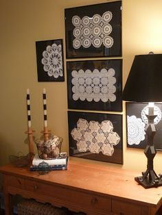 Transitional Home Decor – How Do You Select Accessories For a Room Designed in the Transitional StylE – Transitional Decor Doilies Crafts, Paper Doilies, Crochet Art, Crochet Doilies, Framed Doilies, Doily Art, Diy And Crafts, Arts And Crafts, Transitional Home Decor
