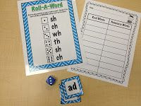 First Grade Smiles, digraphs game
