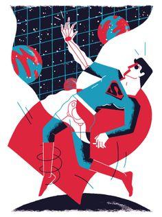 Superschelden by Lennard Kok, via Behance