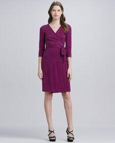 Diane von Furstenberg New Julian Two Chain-Print Wrap Dress