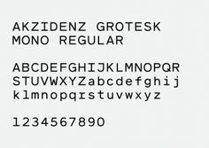 Akzidenz Grotesk Mono - Hubert & Fischer | Graphic Design, Art Direction, Visual Communication