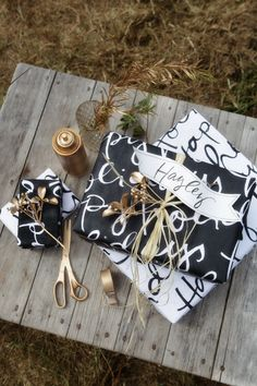 DIY - Typographic Wrapping Paper - Free PDF Printables