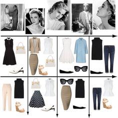 15 Item Capsule Wardrobe (Style Icon Grace Kelly) by minimaliststylist on Polyvore featuring New Look, The Row, Alexander Wang, Miu Miu, Wallis, J Brand, MSGM, Doublju, COSTUME NATIONAL and Giuseppe Zanotti