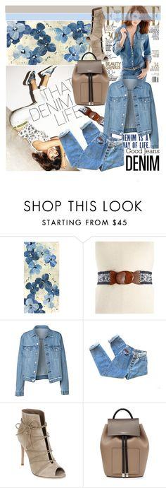 """Denim"" by irinavsl ❤ liked on Polyvore featuring Leftbank Art, INC International Concepts, Gianvito Rossi, Michael Kors and Denimondenim"