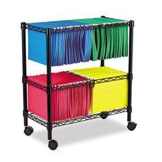 Mesh Rolling Cart Drawers Wheels Office File Legal Size Hanging Folder Storage Mobile Tier Baskets Portable Organizer Heavy Duty Steel /& eBook