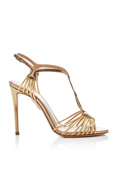 486d1b2eb3c 20 Best Strappy Gold Heels images