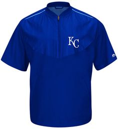 Majestic Men's Short-Sleeve Kansas City Royals Authentic Collection Training Jacket