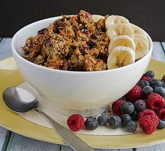 Active Life Grain-Free Berry Granola - Natural Vitality Living by Leanne Vogel Healthy Hearty Breakfast, Best Breakfast Recipes, Healthy Snacks, Dairy Free Recipes, Real Food Recipes, Sugar Free Breakfast, Homemade Cereal, Granola Cereal, Eating Organic
