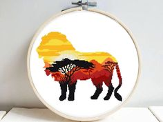 Searching for cross stitch pattern africa on Zibbet Beading Patterns, Color Patterns, Lion Silhouette, Easy Animals, Modern Cross Stitch Patterns, Diy Paper, Pixel Art, Book Art, Pattern Design