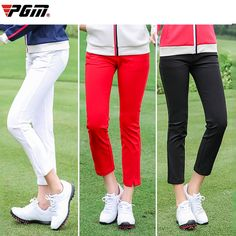 PGM Golf Pants woman High Elastic soft Trousers for golfer play golf ball lady clothing girls clothes Spring Autumn Brand new  Price: 46.99 & FREE Shipping  #fashion|#sport|#tech|#lifestyle Spring Outfits, Girl Outfits, New Golf, Golf Pants, Golf Accessories, Play Golf, Ladies Golf, Golf Ball, Cropped Pants