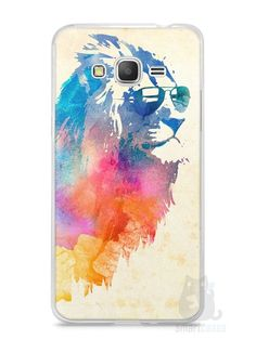Capa Samsung Gran Prime Leão Colorido #2 - SmartCases - Acessórios para celulares e tablets :)