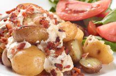 Acompaña tu almuerzo con estas deliciosas papitas con crema y tomillo.  #Crema de Leche #NESTLÉ