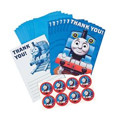 """Thomas+the+Tank+&+Friends™+""""Thank+You""""+Cards+-+OrientalTrading.com"""
