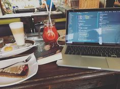 Another day at the office   #work #freelance #programmer #freelancer #coffee #chill #mac #apple #book #reading #javascript #code #node #js #react #developer