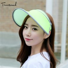 2017 New Fashion Sun Visors For Women Outdoor Summer Womens Sunscreen Hat Visor Sun Sport Beach Caps UV Vacation Holiday