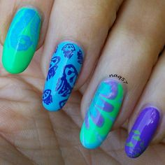 193 Best Water Marble Nail Art Gallery Images On Pinterest Water