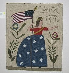 Liberty 1876 designed and hooked by Kris Miller. Was on the cover of Celebration!