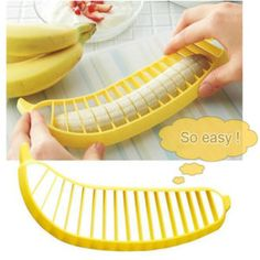 Banana Slicer  $7.99  Free Shipping worldwide if you like it share it with your friends ! Link in BIO section ! #kitchen #home #sweethome #cooking #sushi #lunchbox #baking #dinner #cookie #cookbook #kitchenaid #kitchenware #kitchentools #mykitchen #souleater #goodeats #eatwell #eatrealfood #eatstagram