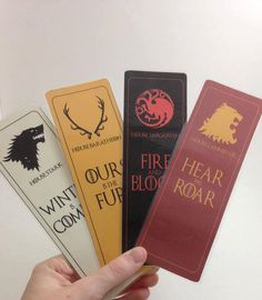 Game of Thrones House Bookmarks by HorcruxesAndDemigods on Etsy