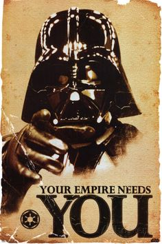 STAR WARS - Empire Needs You. Poster from AllPosters.com, $9.99
